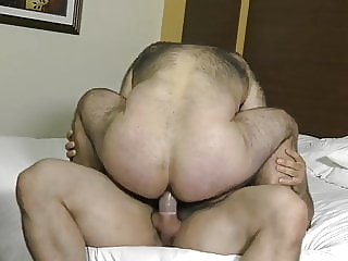 Delicious big hairy ass bear (gay) big cock (gay) blowjob (gay)