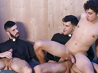 Young Catholic Latino Altar Boy Threesome With Two Priests 8:00 2020-05-06