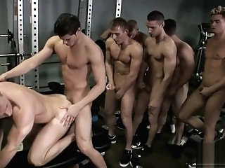 Workout Orgy IMAGE QUALITY IMPROVED cumshot big cock hd