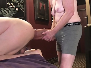 Pegging with huge dildo amateur fetish gay