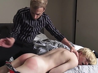 Blond Boy Gets Spanking gay blonde fetish