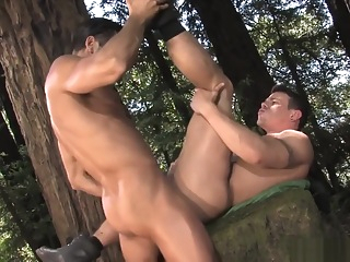 D.O. Fucks Jesse Santana In the Woods bareback big cock gay