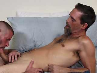 ExtraBigDicks - Hairy Silver Daddies Break In A New Bed bareback big cock deepthroat