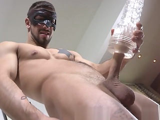 Maskurbate - Fit & Tatted Hunk Fucks Various Sex Toys To Orgasm big cock gay hd