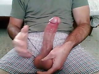 Multiple cumshots, jerking off with own cum 4:53 2020-12-20