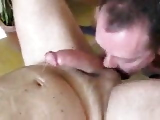 Fun with a big cock neighbor bareback blowjob bukkake