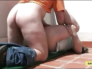 Bear Daddy Fucked at The Roof bear blowjob daddy